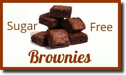 brownies on a white background with the text 'Sugar Free Brownies' written